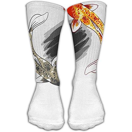 Happy Koi Fish Women & Men Socks Soccer Sport Tube Stockings Length 30cm