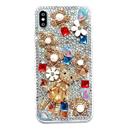 - iPhone 7 Plus Case,iPhone 8 Plus Case,Cute Teddy Bear Luxury Alloy Flower Bling Glitter Diamond Jewelry Gemstone Crystal Rhinestone Phone Case for iPhone 7 Plus/8 Plus 5.5-inch,NO4