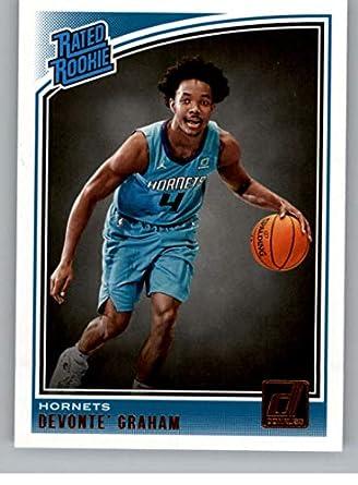 b049a856f5f7 2018-19 Donruss  189 Devonte  Graham Charlotte Hornets Rookie Basketball  Card