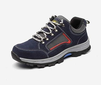 YXWa Botas para Hombres Zapatos con Punta de Acero Zapatos Anti-Smash Zapatos de Seguridad