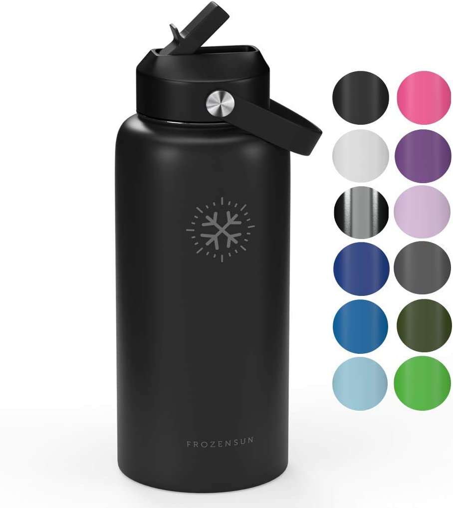 Disponibile in 10 Colori Conserva Bevande Calde//Fredde ~ 24 Ore 700 ml e 940 ml Root-FTC Bottiglia Termica in Acciaio Inossidabile con Doppia Parete e Tappo Anti Goccia di 530 ml