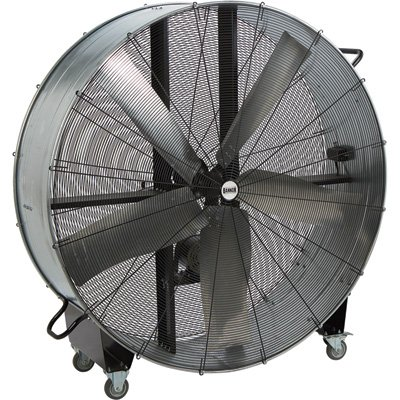 Bannon Fixed Belt Drive Drum Fan - 60in, 22,100 CFM, 1 HP - Galvanized Belt Drive Fan