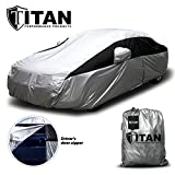 Weatherproof Car Cover - Lightweight - Car Cover for Toyota Camry and Others to 200 Inches Long - Waterproof Outdoor Car Cover Features Driver Door Zipper for Quick Access and Click Close Straps