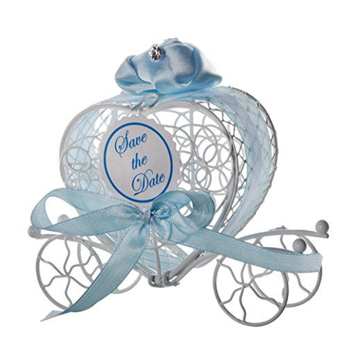 Clearance Deal! Hot Sale!Candy Box, Fitfulvan New Candy Boxes Romantic Carriage Sweets Chocolate Box Wedding Party Favors (Blue)