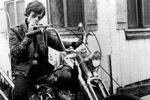 Peter Fonda sitting astride Harley-Davidson Chopper Wild Angels 24x36 Poster