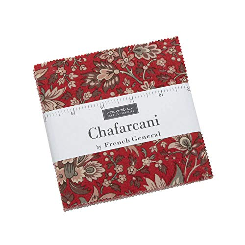 "Chafarcani Charm Pack by French General; 42-5"" Precut Fabric Quilt Squares"