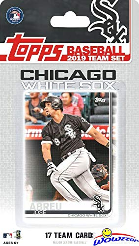 Chicago White Sox 2019 Topps Baseball EXCLUSIVE Special Limited Edition 17 Card Complete Team Set with Yoan Moncada, Jose Abreu & Many More Stars & Rookies! Shipped in Bubble Mailer! WOWZZER! ()