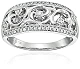 10k White Gold Diamond Anniversary Ring (1/4cttw, H-I Color, I2 Clarity), Size 7