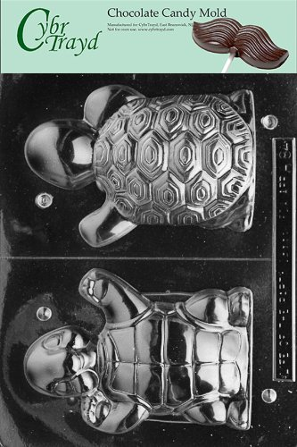 Cybrtrayd Life of the Party A084 Happy 3D Turtle Chocolate Candy Mold in Sealed Protective Poly Bag Imprinted with Copyrighted Cybrtrayd Molding Instructions