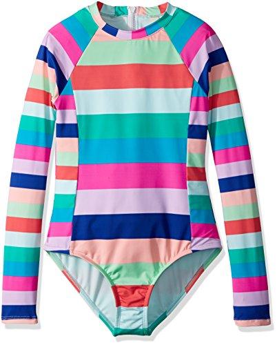 Back Zip Suit (Hobie Big Girls' Long Sleeve Bodysuit With Back Zip Enclosure, Multi, 12)