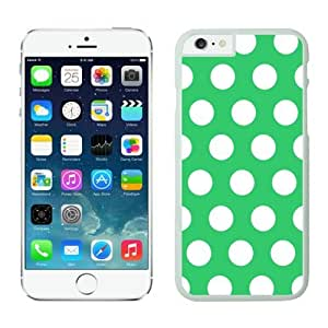 Iphone 6 Cases;cute Iphone 6 Case,polka Dot Green and White Iphone 6 Plus Cases White