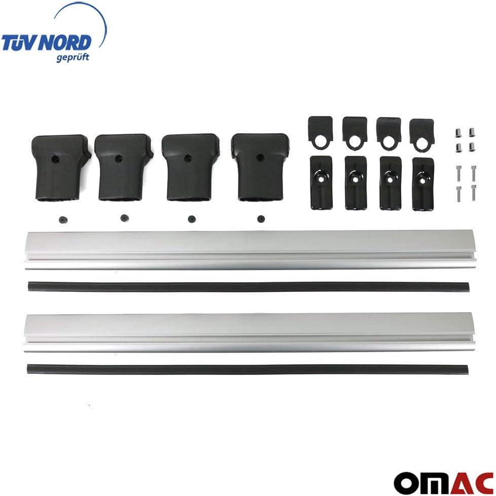 Omac Aluminium Schwarz Dachträger Dachgepäckablage Relingträger Für Dokker 2012 2020 Mit Dachgepäckträger Mit TÜv Abe Auto