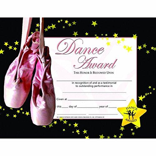 Dance Award Certificate - Glossy Paper - Quantity 150 (Best Student Certificate Template)