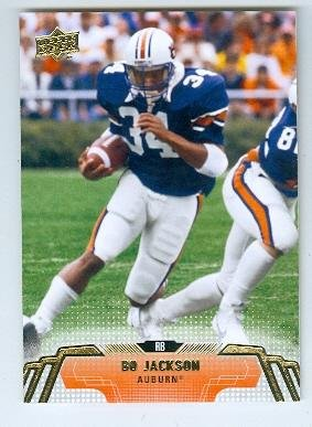 Bo Jackson football card (Auburn Tigers Heisman Trophy Winner) 2014 Upper Deck #38