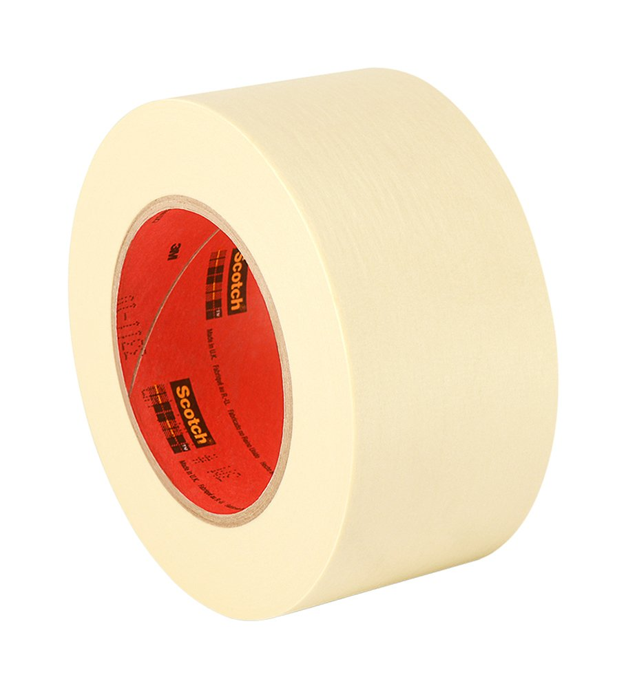 3M 200 Utility Purpose Paper Tape - 4 in. x 180 ft. Crepe Paper Masking Tape Roll. Bonding Tapes by 3M