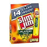 Slim Jim Snack-Sized Smoked Meat Stick, Jalapeño Flavor, 0.28 Oz. 14-Count (Pack of 8)