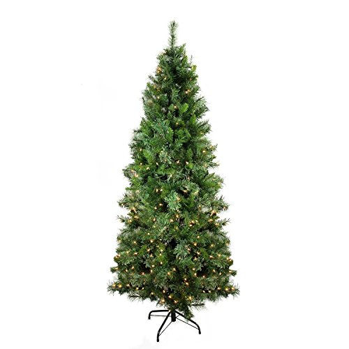 Cashmere Pine Christmas Tree (Northlight Pre-Lit Atlanta Mixed Cashmere Pine Medium Artificial Christmas Tree with Clear Lights, 6.5')