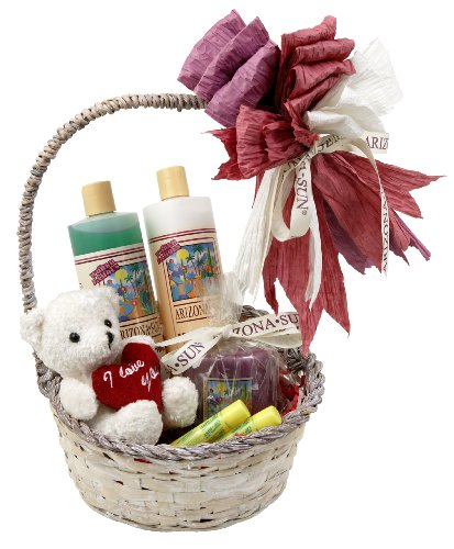 "Arizona Sun Love Gift Basket - Say ""I Love You"" – Skin Care Idea – Soothing – Moisturizing – Products – Wedding – Bride – Groom – Anniversary – Birthday – Any Occasion - Holiday"