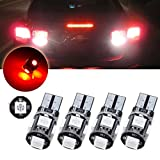 volvo led lights for motorhome - CCIYU 4pcs T10 5SMD Red Led Light bulbs for Interior Dome Map Dashboard Lights Trunk Lamp