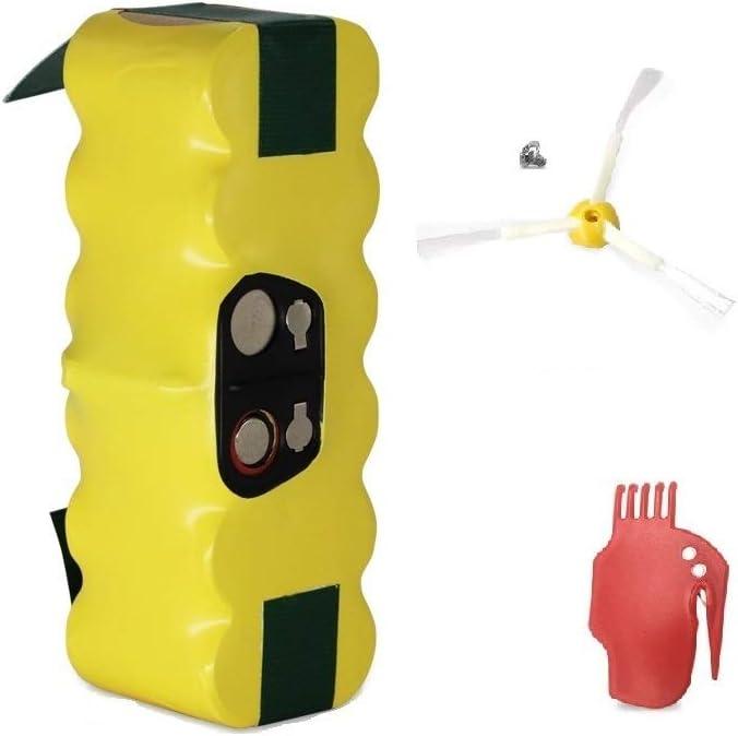 GPISEN 3800mAh Batería de Repuesto con 1 Cepillo Lateral para iRobot Roomba 500 600 700 Series (Type 1)