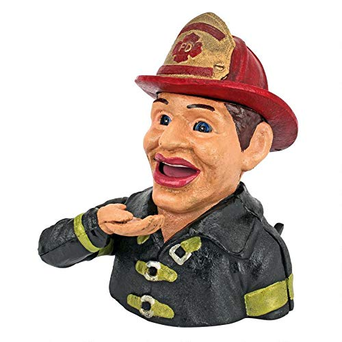 Design Toscano Fireman's Fund Die-Cast Iron Mechanical Coin Bank, Full Color by Design Toscano