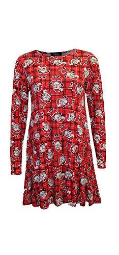 Delle Più Altalena Tartan Vestito Svasato Delle Dimensioni Di Rosso Oscillare Vestito Donne Signore Il Natale Di r8wxprPR