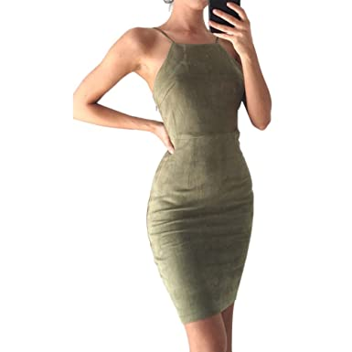 0ad9aad900c Molif Women Summer Dress Tunic Slip Dresses Bandage Dress Spring Suede  Sundress Robes Office Sexy Lace