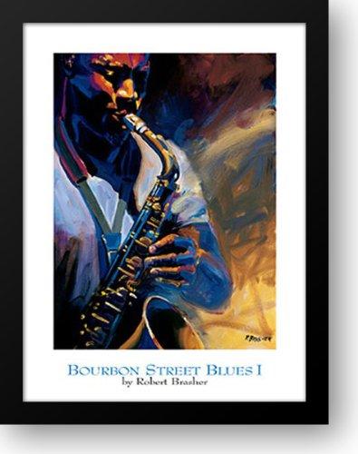 - Bourbon Street Blues I 22x28 Framed Art Print by Brasher, Robert