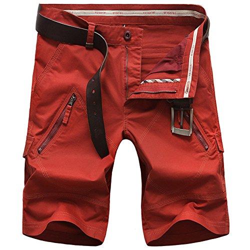 Hombres Cortos De Delgada Aire Sueltos Pantalones Red Sección Casual Yra Verano Correa sin Herramientas Los Para Multi Playa bolsillo Al Libre 81qgpwx