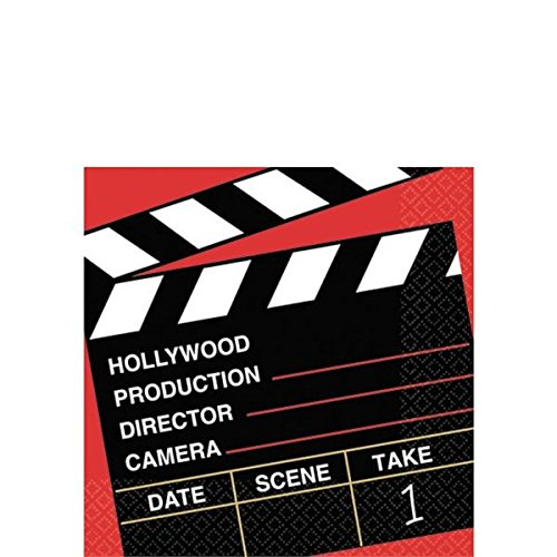 Hollywood Lunch Napkins - Director's Cut Party Beverage Napkins, 36 Ct.