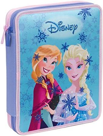 Estuche 2 Cremalleras Maxi Disney , Frozen Magic Lights , Azul , Pisos con Contenido: Lápices, Rotuladores ...: Amazon.es: Equipaje