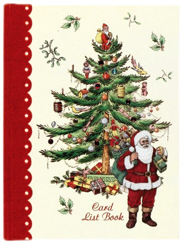 amazon com cr gibson spode christmas tree card list book c r