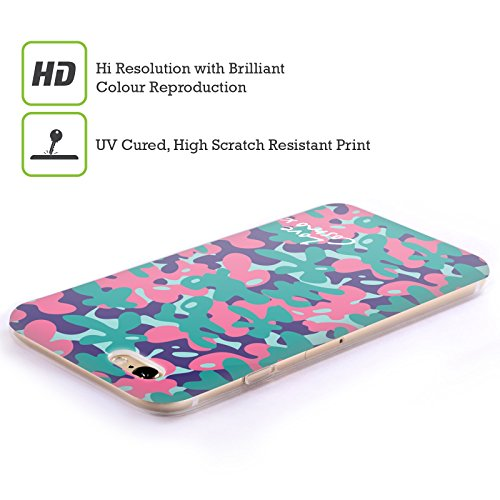 Official Cosmopolitan Teal Pink Camo Soft Gel Case for Apple iPhone 4 / 4S