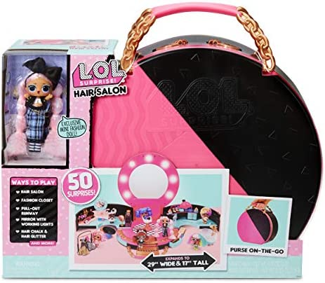 L.O.L. Surprise! Hair Salon Playset with 50 Surprises and Exclusive JK Mini Fashion Doll (571322E7C)