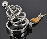 FANGMING The latest fashion stainless steel male chastity device lock, cock Cage Toy, male penis cage sheep's eye socket cb6000s equipment