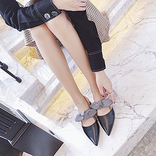 di delle delle 5 Nero UK4 le Sandali Colore donne estivi Slipper l'appartamento dimensioni portano piano 5 CN37 con estate Marrone pantofole CAICOLOR coreani EU37 ragazze 6ISYF1