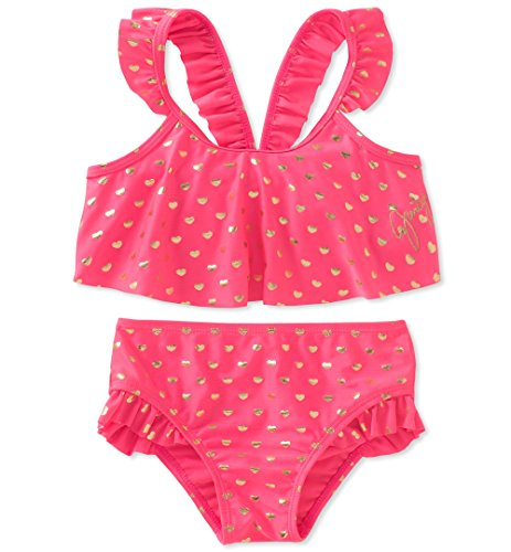 Juicy Couture Baby Girls 2 Pieces Swimsuit, Pink, 24M