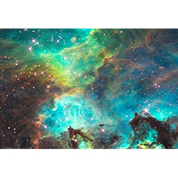 Star Cluster NGC 2074 in the Large Magellanic Cloud Hi Gloss Space Poster