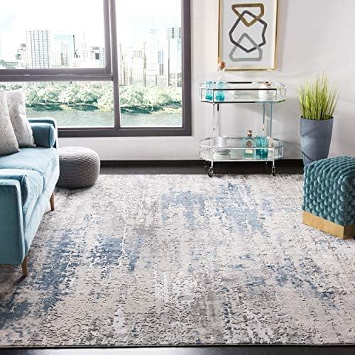 Safavieh Invista Collection INV486F Area Rug, 9 x 12 , Grey Blue