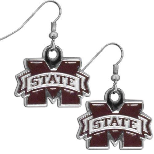 (NCAA Mississippi State Bulldogs Chrome Dangle Earrings)