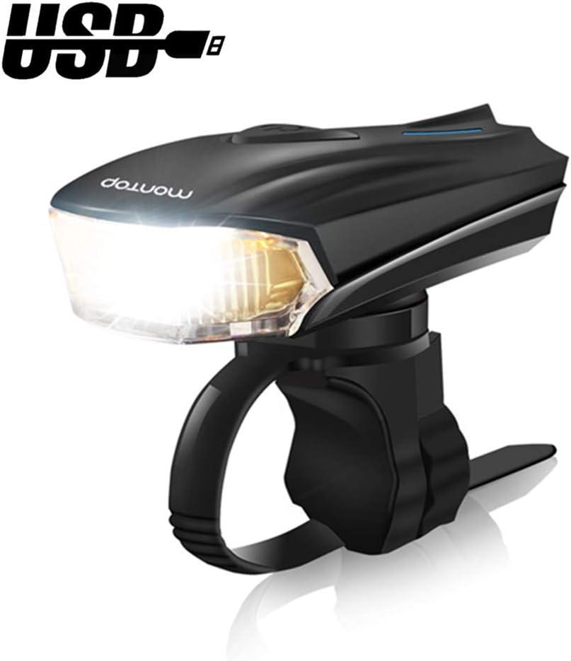 Super Bright Bike Lamp 1200mAh Li-ion Battery Waterproof Front Headlight and Rear Taillight Set MONTOP Bike Light LED Set LED Bicycle Lights USB Rechargeable