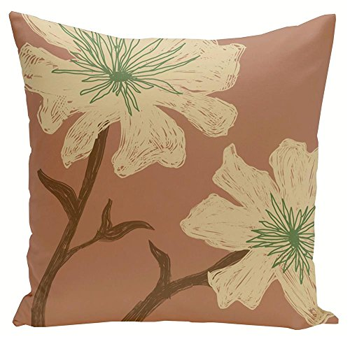 Decorative Floral Pillow (18 in. L x 18 in. W)