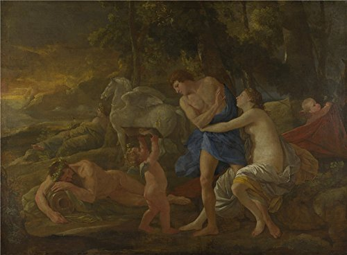 Oil Painting 'Nicolas Poussin Cephalus And Aurora', 16 x 22 inch / 41 x 55 cm , on High Definition HD canvas prints is for Gifts And Bar, Living Room - Megabus Code Coupon