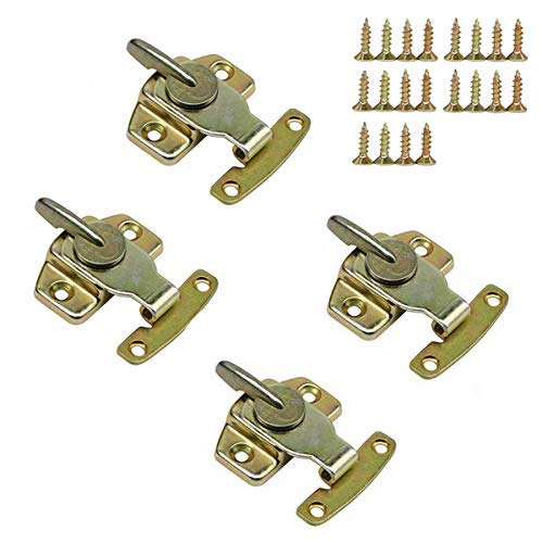 LepoHome 4 Pieces Metal Table Locks Dining Training Table Buckles Connectors Hardware Accessories - Brass Plated ()