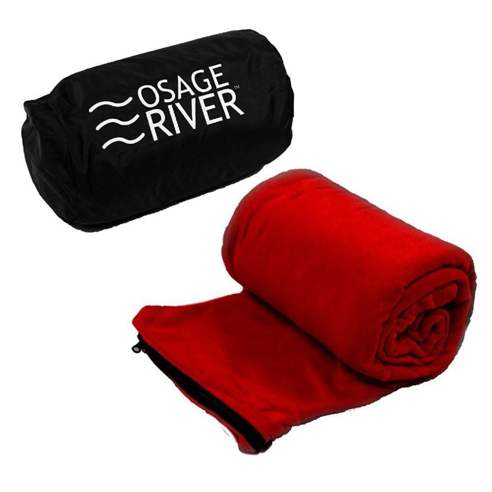 83f4f077f6 Osage River Microfiber Fleece Zippered Sleeping Bag Liner with Carry  Storage Bag (Red Fleece Sleeping Bag Liner)  Amazon.com.au  Sports