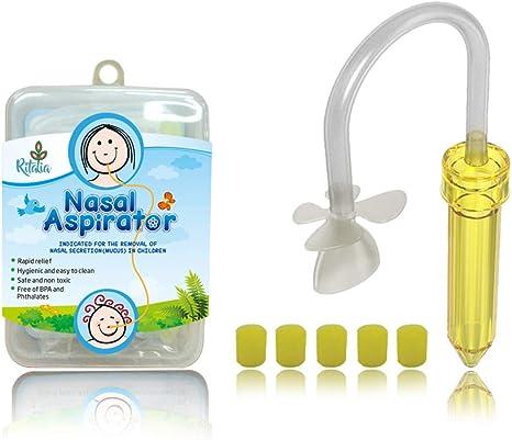 Ritalia aspirador nasal bebé con 5 filtros higiénicos. Para el ...