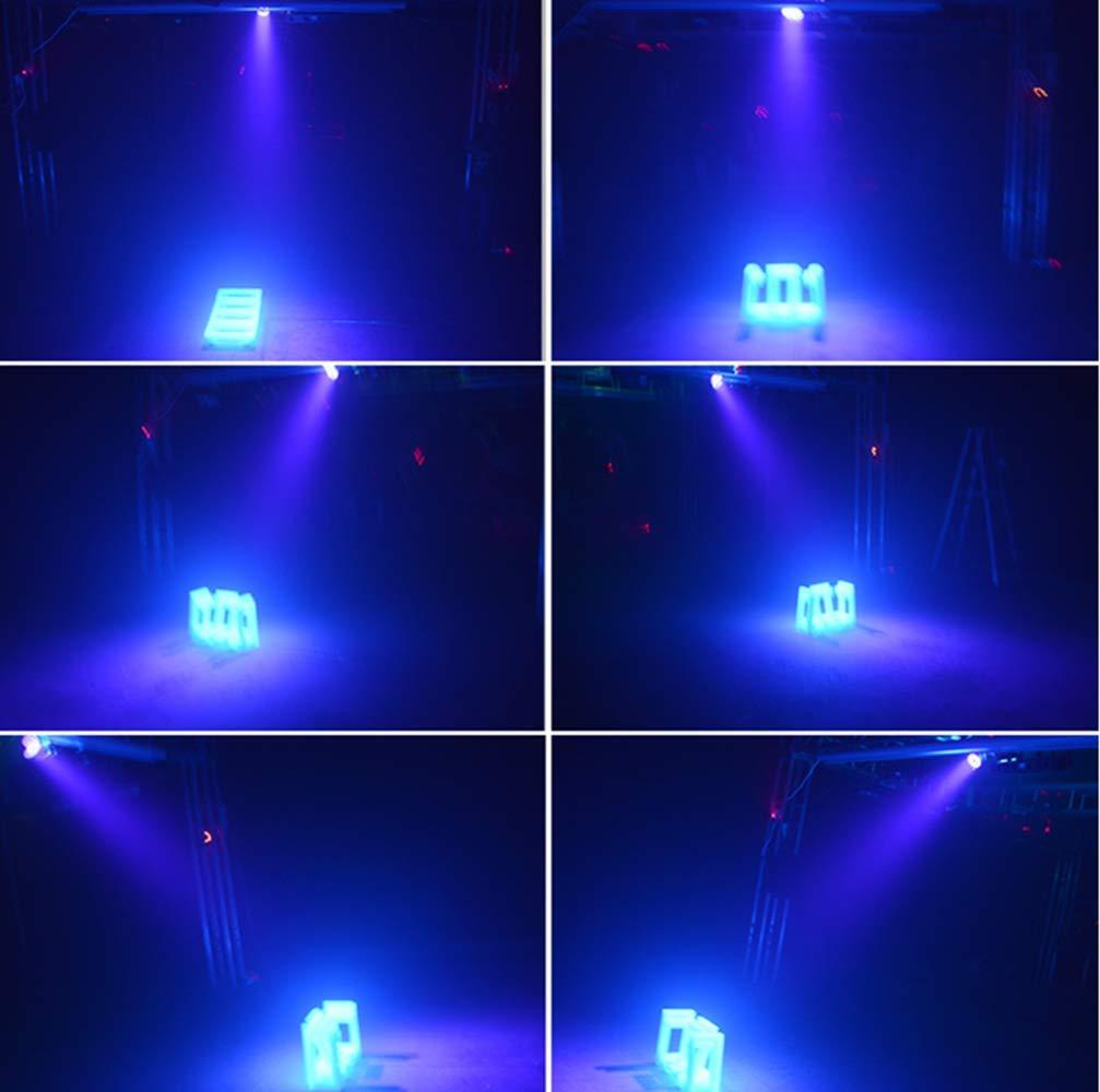Parfait pour Disco DJ Soir/ée Fluo No/ël Halloween lumiere de scene Jeu de Lumiere 12 LED Commande Sonore,Eclairage Lumi/ère Violette Vltraviolet 54W Lampe Lumi/ère Noire UV Par LED DMX Projecteur Noir