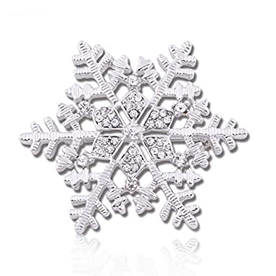 Pins & Brooches Fashion Jewelry Collection Here Silver Coloured Snowflake Brooch Pin Christmas Jewellery Present Gift