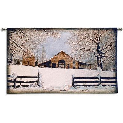 Fine Art Tapestries ''Winter's Gift'' Wall Tapestry