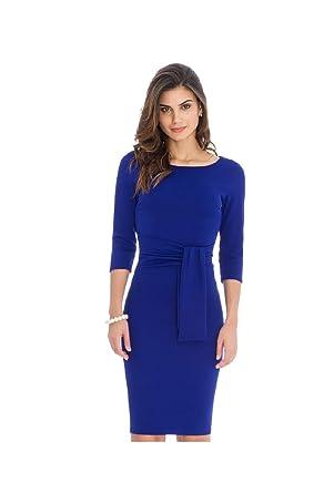 CityGoddess - Vestido con Corbata Azul Real 70 ES: Amazon.es: Ropa ...